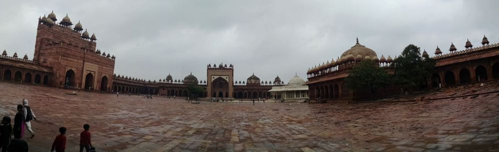 Emperor's Courtyard at Fatehpur Sikri.