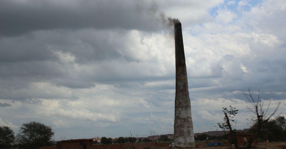 Brick furnace.