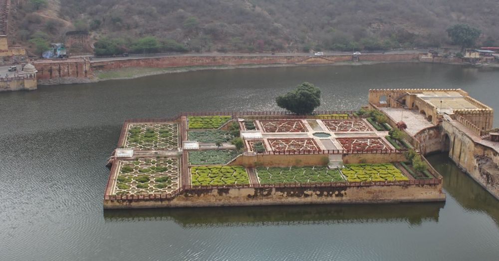 Gardens as seen from above.