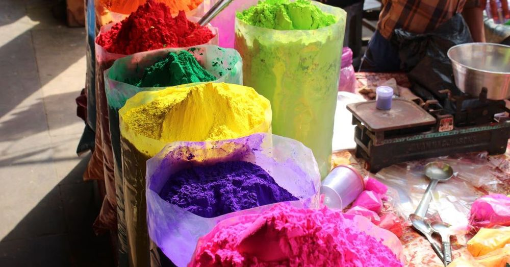The colors of Holi.