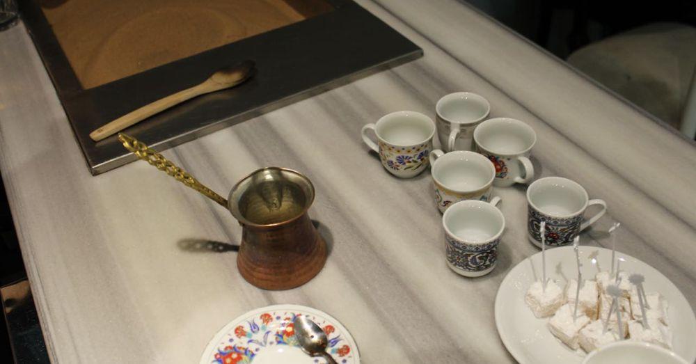 Cezve-Kurukahveci, a pot for making coffee.