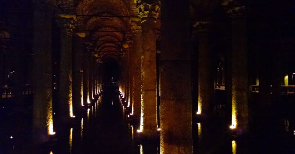 If not for the lights, the Basilica Cistern would be really spooky.