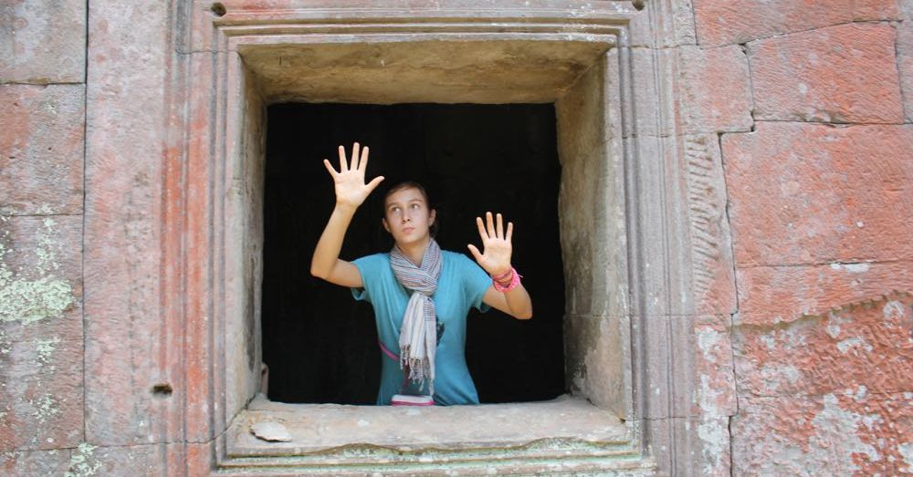 Frankie at Ta Prohm