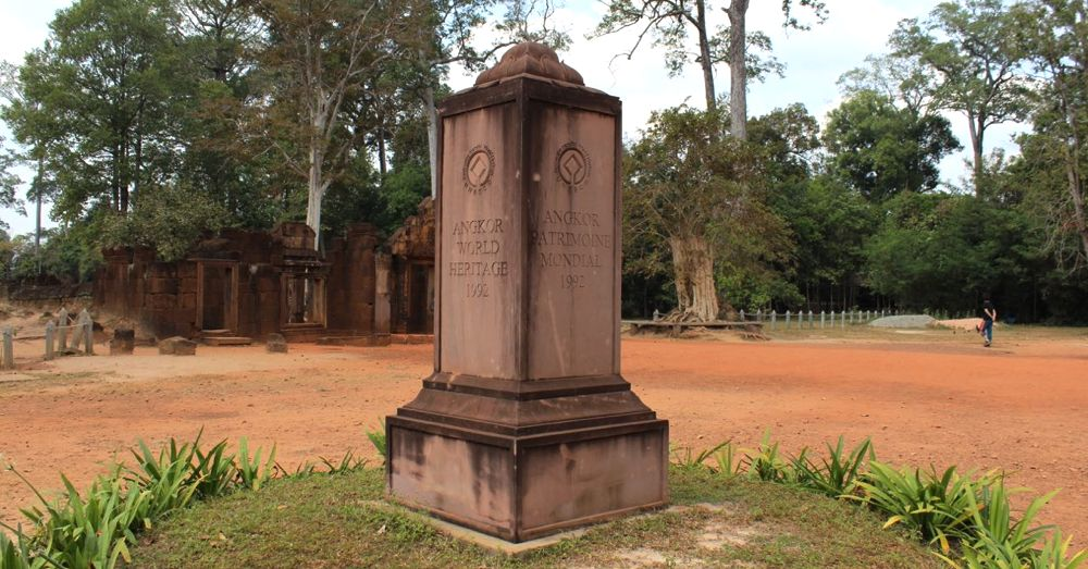 UNESCO Marker at Banteay Srei