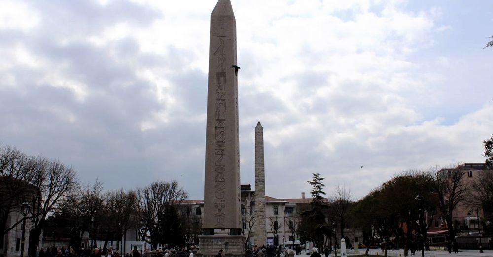 Hippodrome remains: Obelisk of Theodosius, the Serpent Column, and the Walled Obelisk.