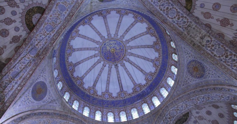 The dome of the Blue Mosque.