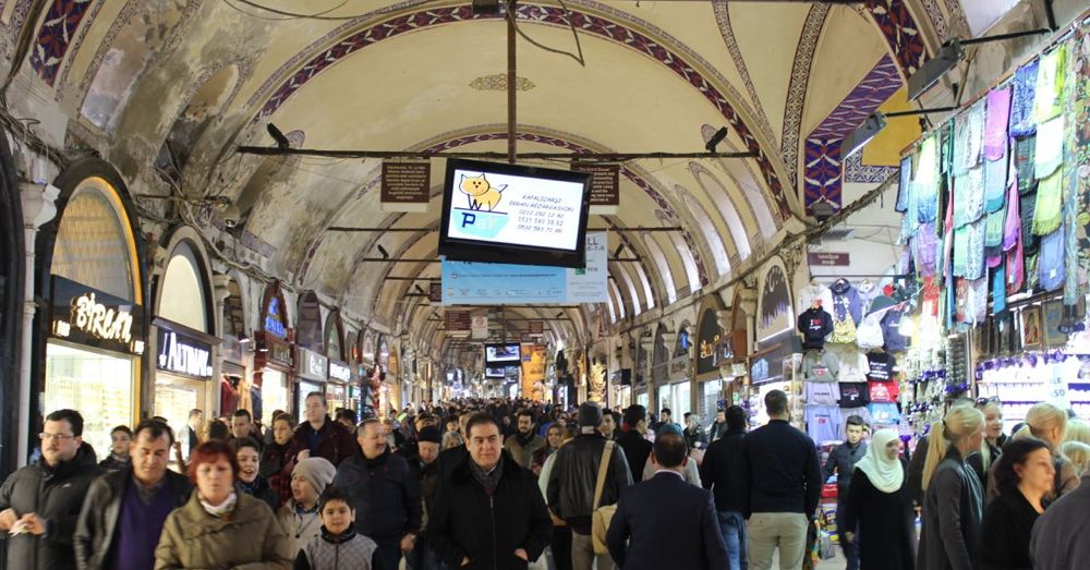 The Grand Bazaar is busy.