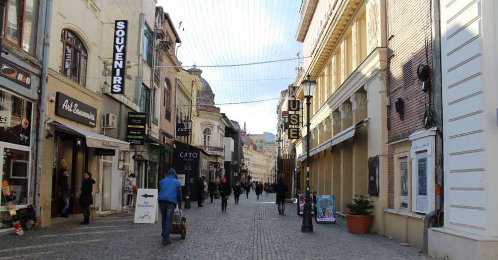 A street in Romania's city center.