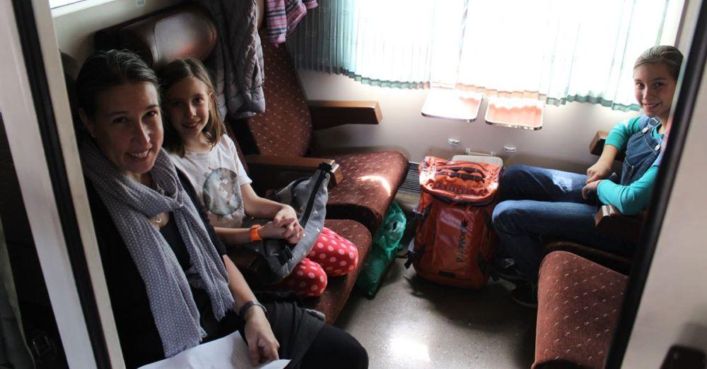 Our first European train ride.