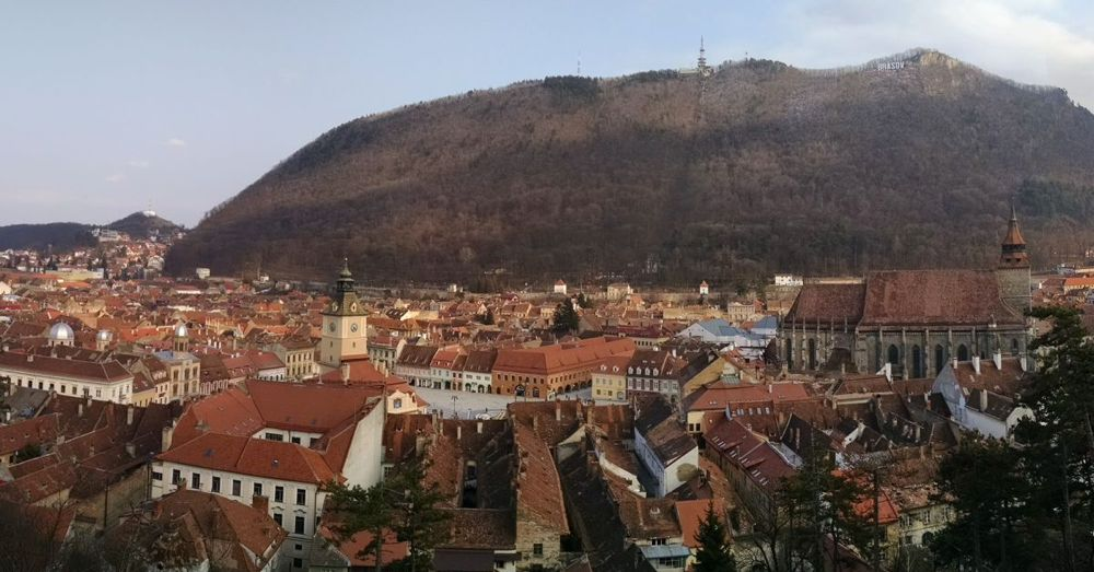 Brasov from the White Tower.