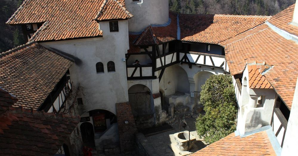 Bran Castle courtyard.