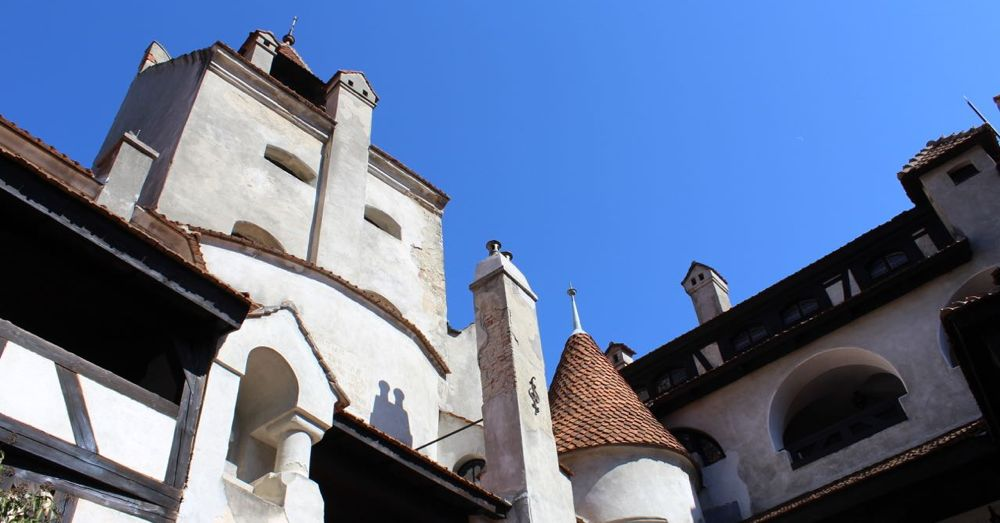 Bran Castle from the courtyard.