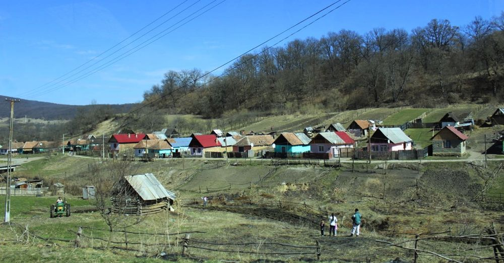 Gypsy village, Romania.