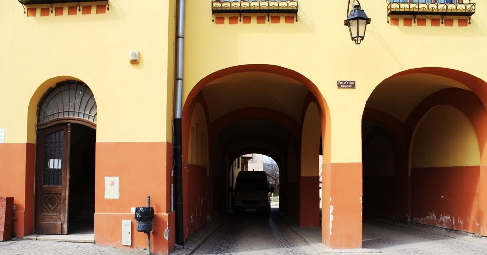 Tight fit: the entrance to Sighisoara.