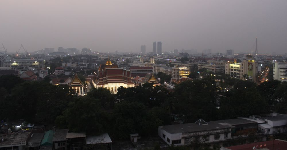 Bangkok from Wat Saket