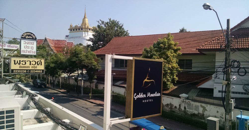 Wat Saket from Golden Mountain Hostel