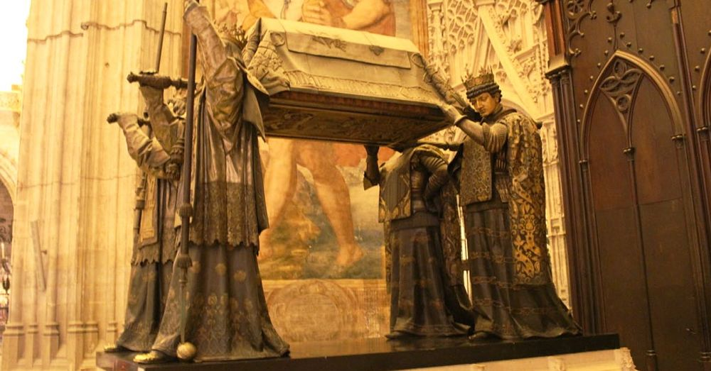 The tomb of Christopher Columbus.