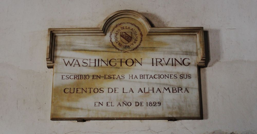 Washington Irving wrote in these rooms his Tales of the Alhambra in the year 1829.