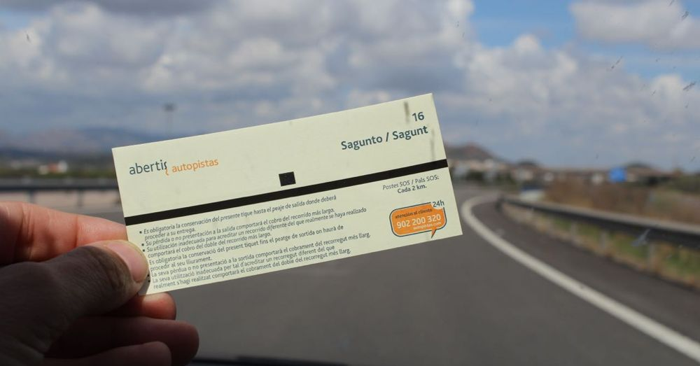 Ticket for the toll road.