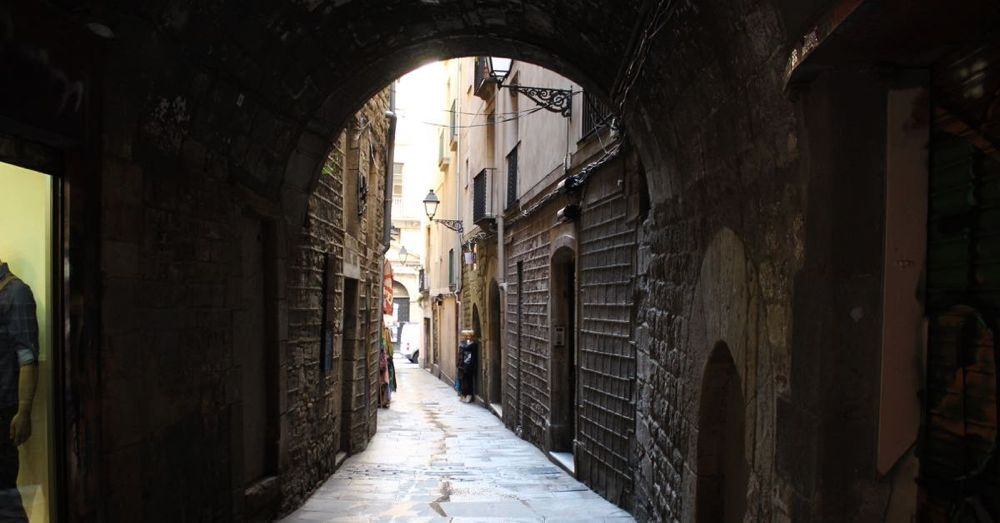 A street in the old Jewish quarter of Barcelona.