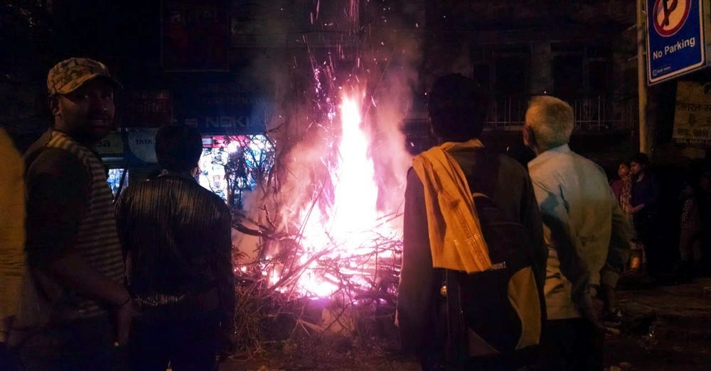 Pre-Holi Bonfire