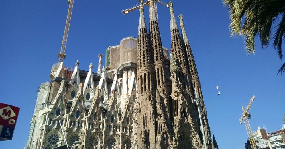 Sagrada Familia, perpetually under construction.