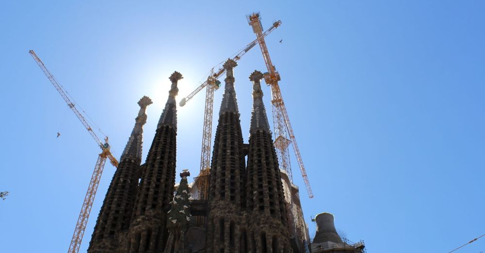 Even the sun is eclipsed by the opulence of the Sagrada Familia.
