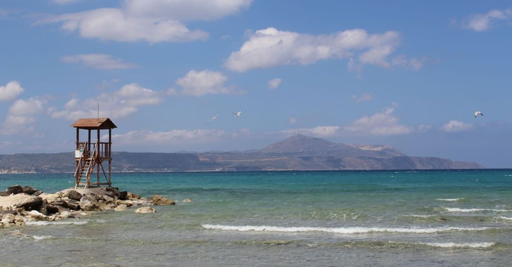 The beach at Almyrida.