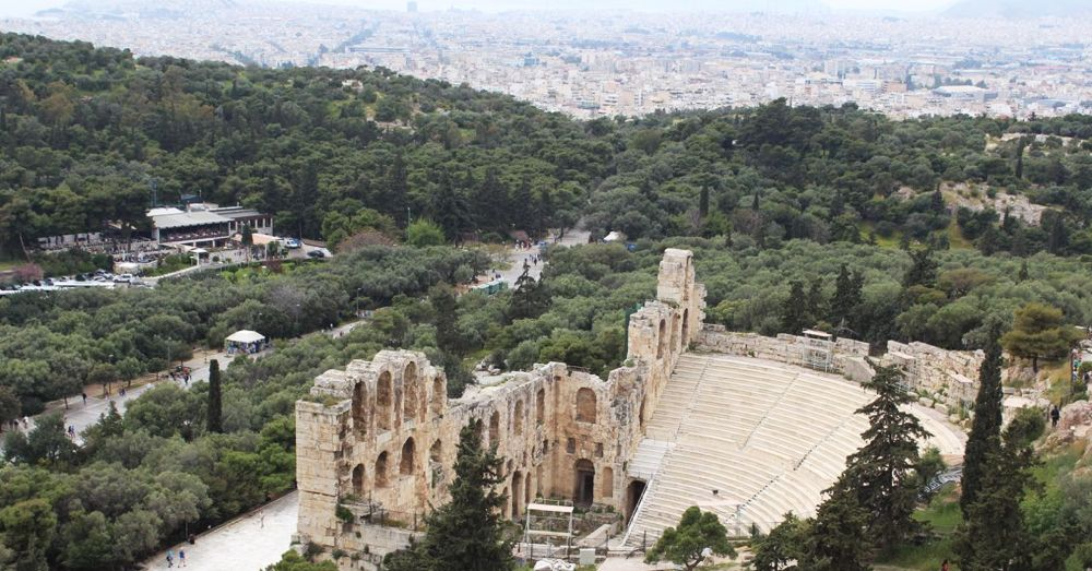 The Odeon from the Acropolis.