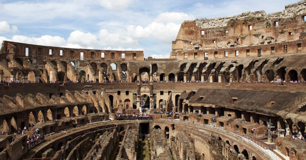 Another view of the Colosseum.