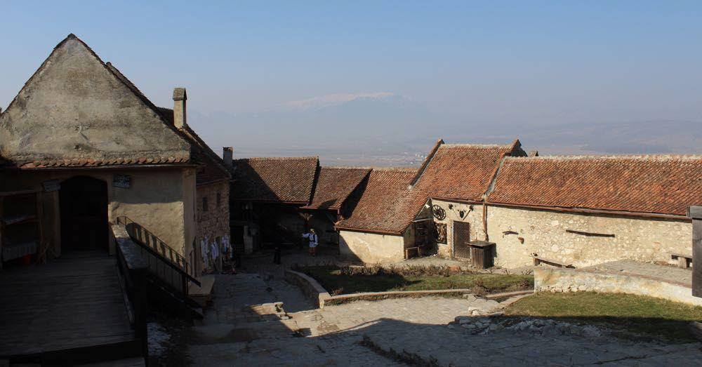 Inside Rasnov Citadel