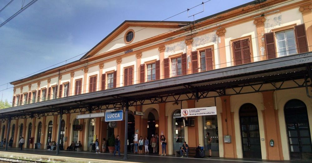 Lucca train station.