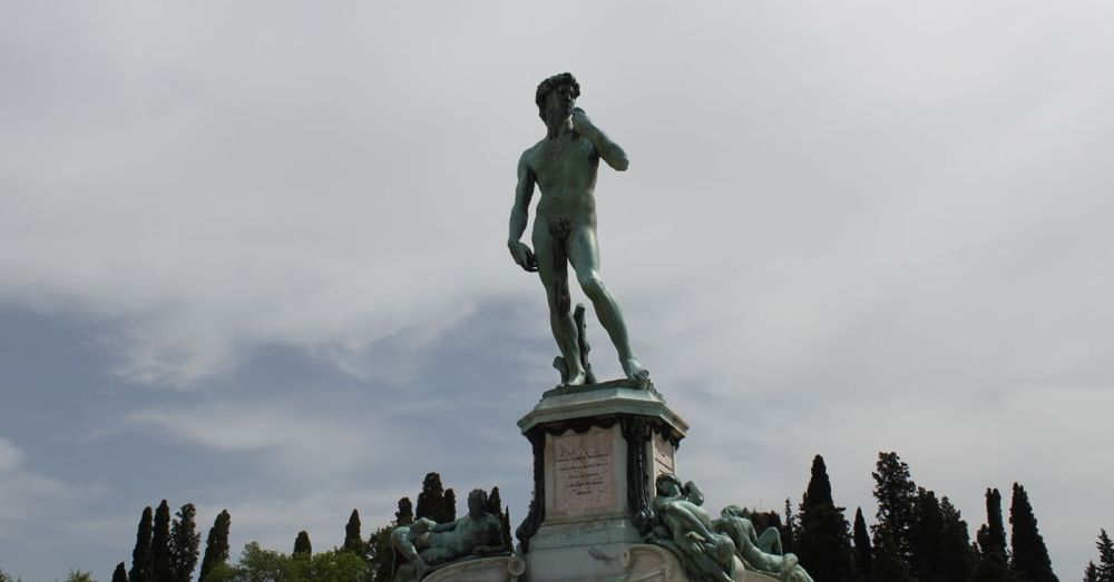 Bronze David.