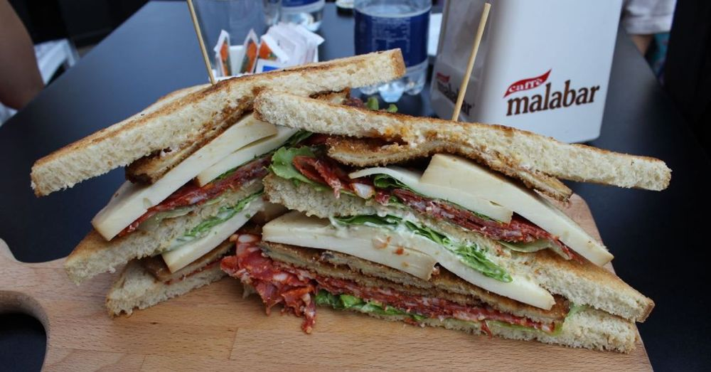 One big sandwich.