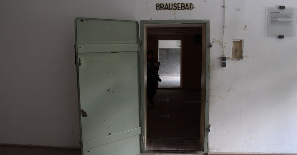 Door to the gas chamber at Dachau.