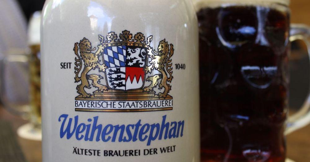 Weihenstephan Stein filled with Dunkel.