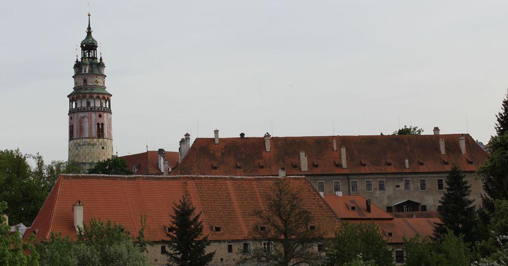 Český Krumlov castle tower.