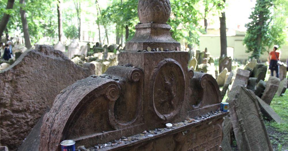 The tombstone of Rabbi Loew.