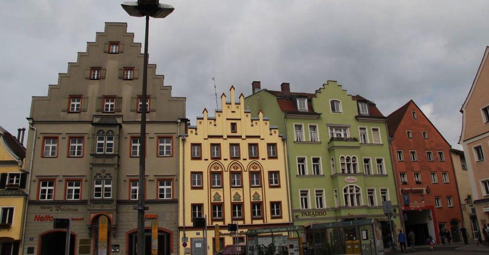 Regensburg buildings.