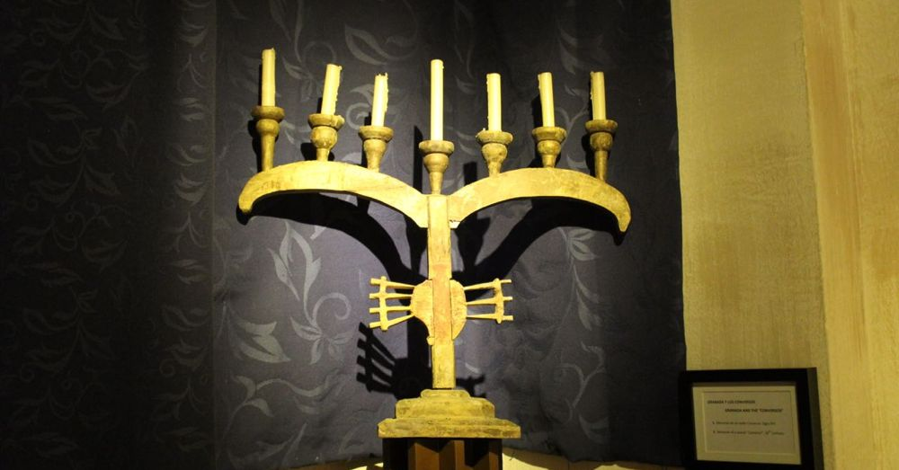 Camouflaged Menorah