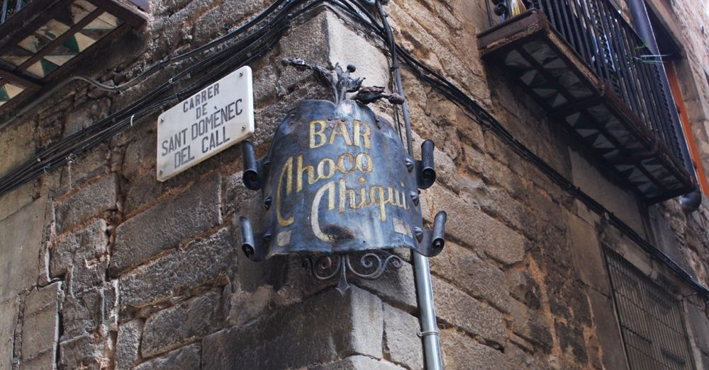 Signs in Barcelona's Old Jewish Quarter