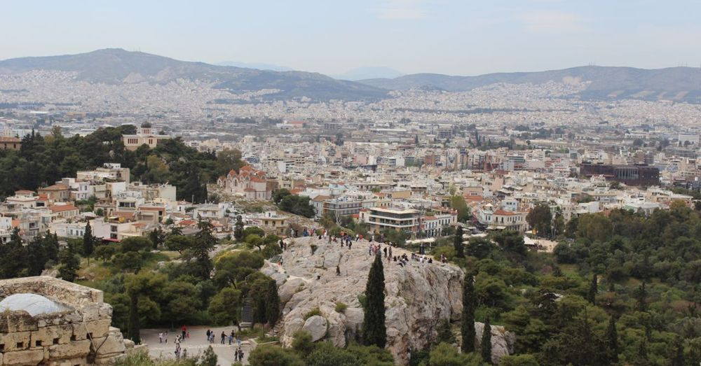 Aeropagus from the Acropolis