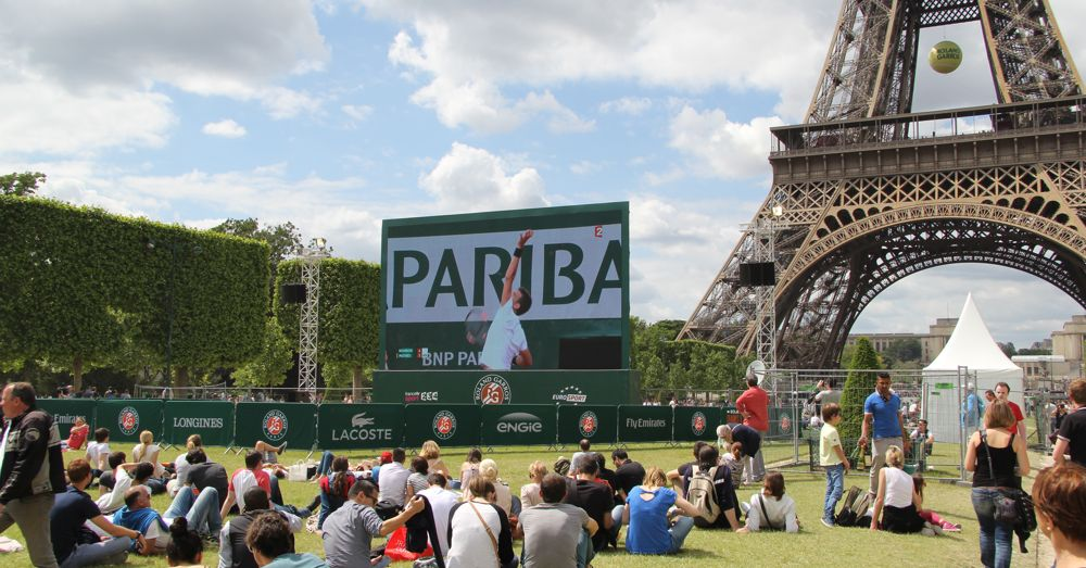 Tennis on the Champs de Mars.