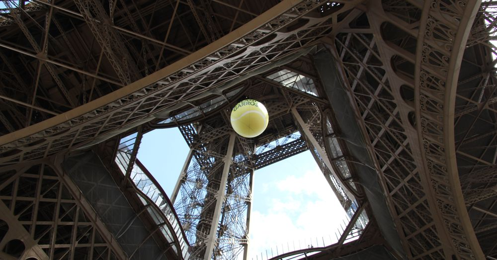 Giant Roland Garros Ball at the Towre