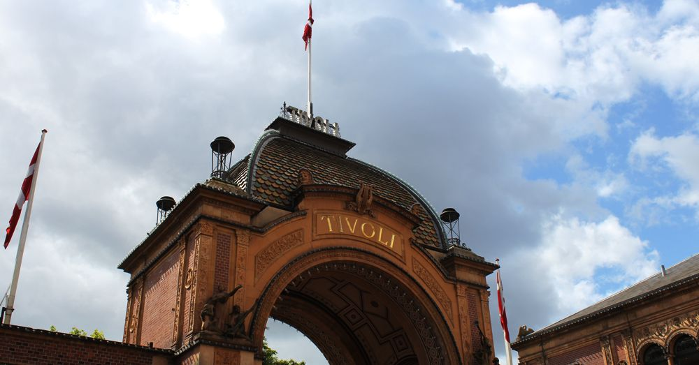 Entry gate to Tivoli Gardens.