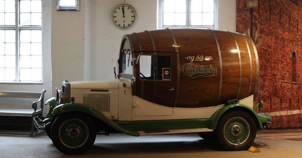 Beer barrel truck.