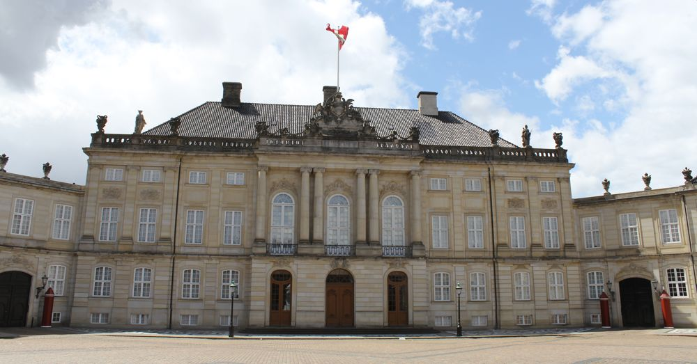 Christian VII's Palace, one of the four buildings in Amalienborg Complex.