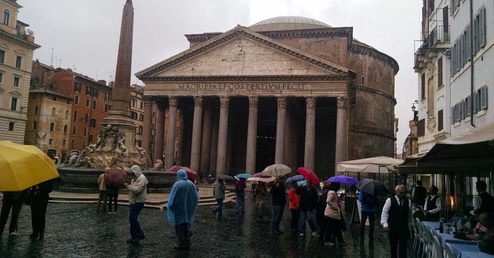 Pantheon in the Rain
