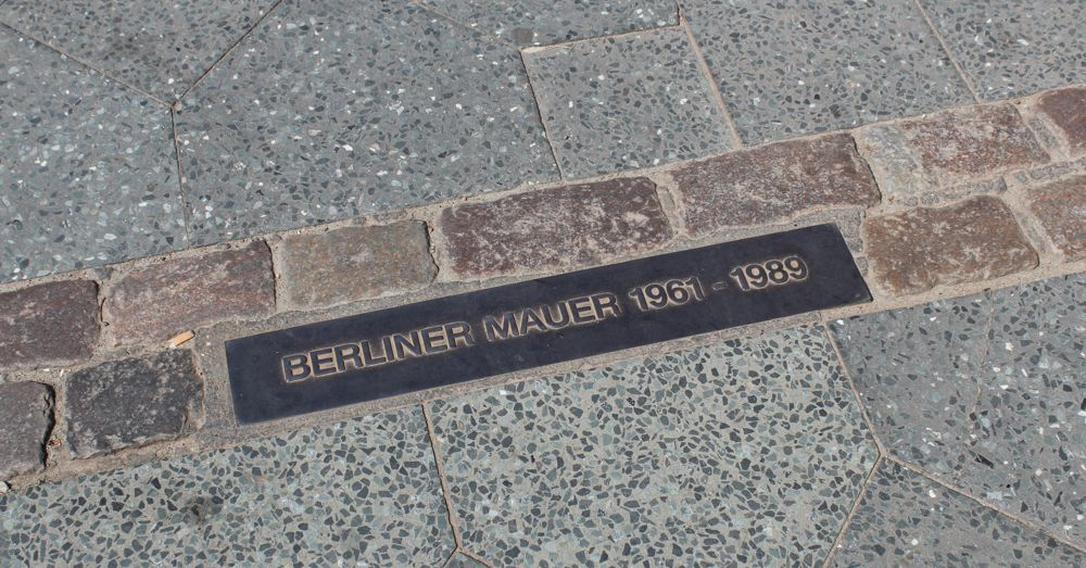 Path of the Berlin Wall.