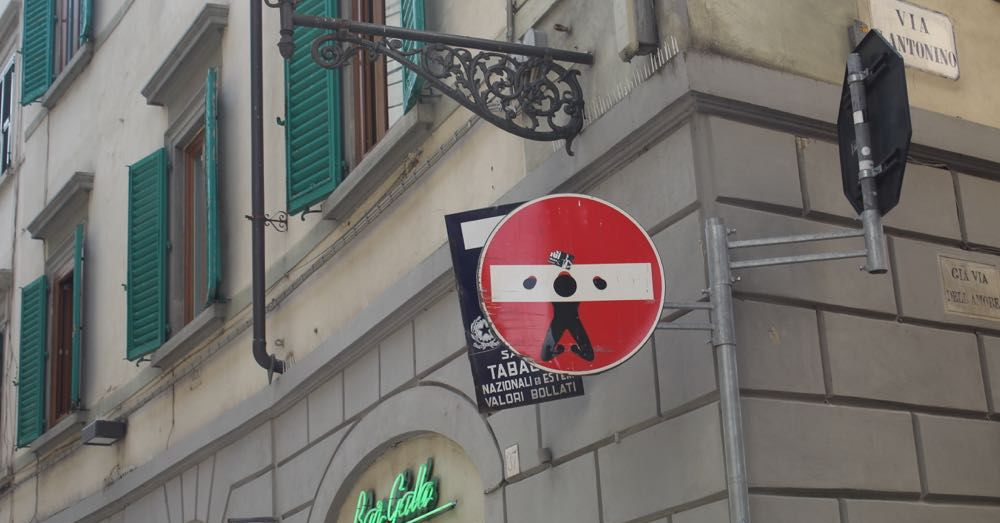 Street Sign in Florence